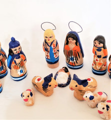 Fair Trade Tonala Mini Ceramic Nativity Set from Mexico