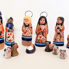 Fair Trade Tonala Mini Ceramic Nativity Set from Mexico