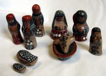 Fair Trade Tonala Ceramic Nativity Set from Mexico