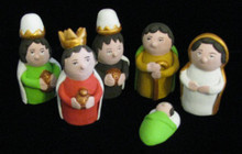 Fair Trade Hand Painted Nativity from Peru
