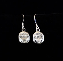 Fair Trade Pewter Aztec Earrings from Mexico