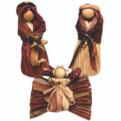 Fair Trade Corn Husk Nativity Set from Colombia