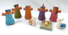 Fair Trade Hand Painted Mayan Nativity from Peru