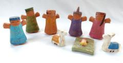 Fair Trade Hand Painted Mayan Nativity from Peru