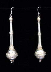 Fair Trade Silver Plated Bullet Casing Bead Earrings from Ethiopia