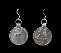 Fair Trade Coin Earrings from Ethiopia