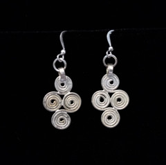 Fair Trade Silver Plated Bullet Casing Bead Earring from Ethiopia