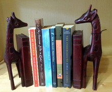 Fair Trade Wooden Giraffe Bookends from Rwanda