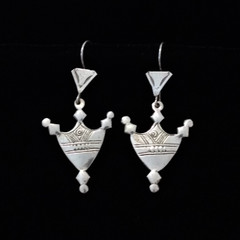 Fair Trade Silver Tuareg Earrings from Mali