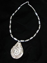 Fair Trade Stainless Steel and Bead Necklace from Dominican Republic