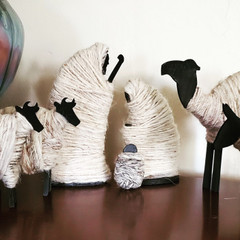 Fair Trade Wool Wrapped Wood Nativity Set from the Holyland