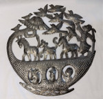 Fair Trade Recycled Steel Drum Noah's Ark Wallhanging from Haiti