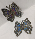 Fair Trade Recycled Steel Drum Butterfly Wallhanging from Haiti