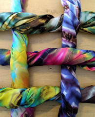 Fair Trade Cotton Tiedye Scarf from Thailand