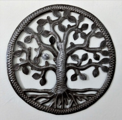 Fair Trade Recycled Steel Drum Tree of Life Wall Art from Haiti
