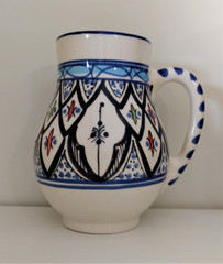 Fair Trade Hand Painted Ceramic Mug from Tunisia
