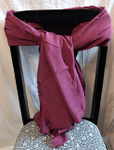 Burgundy Cotton and Silk Chiffon Scarf from Kyrgyzstan