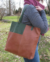 Fair Trade Leather Tote from Ethiopia