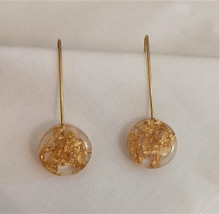 Fair Trade Eco-Resin and Precious Metal Earrings from Colombia