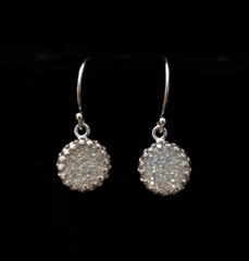 Fair Trade Sterling and Druzy Quartz Earrings from Israel