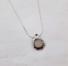 Fair Trade Sterling and Druzy Quartz Necklace from Israel