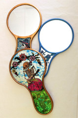Fair Trade Reverse Glass Day of the Dead Mirror from Peru