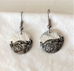 Fair Trade Silver and Antique Silver Earrings with Pine Cone from India