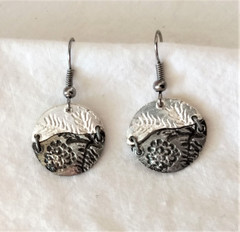 Fair Trade Silver and Oxidized Silver Earrings from India