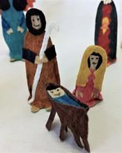 Fair Trade Tuno Bark Nativity Set from Honduras