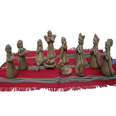 Fair Trade Terracotta Nativity from Guatemala