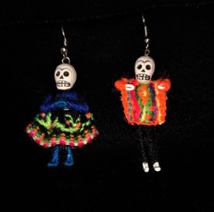 Fair Trade Day of the Dead Earrings from Peru