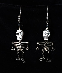 Fair Trade Wire Skeleton Day of the Dead Earrings from Peru