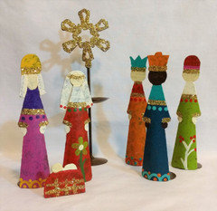 Fair Trade Recycled Metal Nativity Set from Colombia