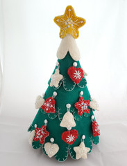 Fair Trade Felted Wool Advent Tree from Kyrgyzstan
