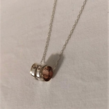 Fair Trade Sterling and Gold Filled Swivel Cylinder Necklace from Israel