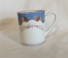 Fair Trade Ceramic Cat Mug from Japan