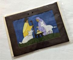Fair Trade Batik Nativity Note Card from Nepal