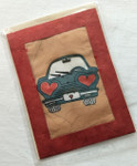 Fair Trade Batik Love Note Card from Nepal