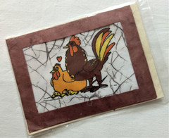 Fair Trade Batik Rooster Card from Nepal