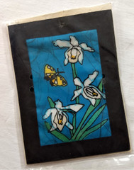 Fair Trade Batik Orchid Note Card from Nepal