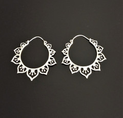 Fair Trade Sterling Hoop Earrings from India