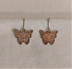 Fair Trade Bronze Butterfly Earrings from Peru