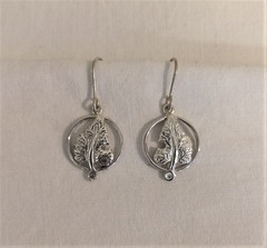 Fair Trade Sterling Leaf Earrings from Peru
