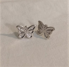 Fair Trade Sterling Butterfly Post Earrings from Peru