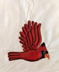 Fair Trade Steel Drum Cardinal Ornament from Haiti