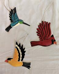 Fair Trade Steel Drum Songbird Ornament from Haiti