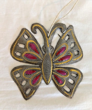 Fair Trade Steel Drum Butterfly Ornament from Haiti