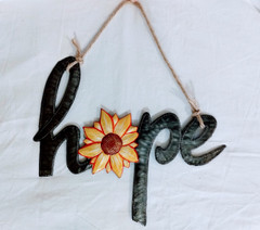Fair Trade Recycled Steel Drum Hope Wall Hanging