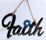 Fair Trade Recycled Steel Drum Faith Wall Hanging