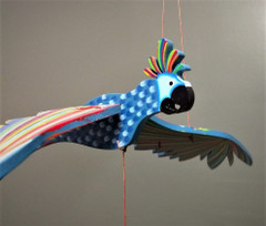 Fair Trade Flying Cockatiel Mobile from Colombia
